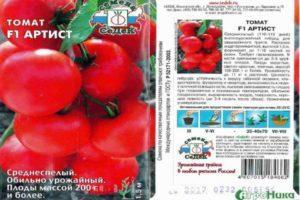 Описание томата Артист и правила выращивания гибридного сорта