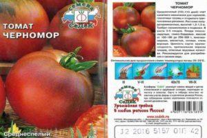 Описание томата Черномор, характеристики среднеспелого сорта, урожайность