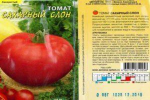 Описание томатов Сахарный слон и характеристика плодов