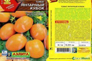 Описание и особенности выращивания томата Янтарный кубок , отзывы