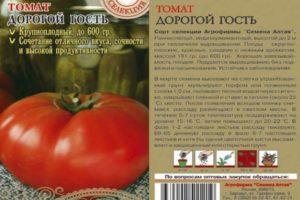 Описание томата Дорогой гость, правила выращивания и отзывы садоводов