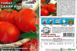 Описание томата Сахар красный и разведение сорта на приусадебном участке