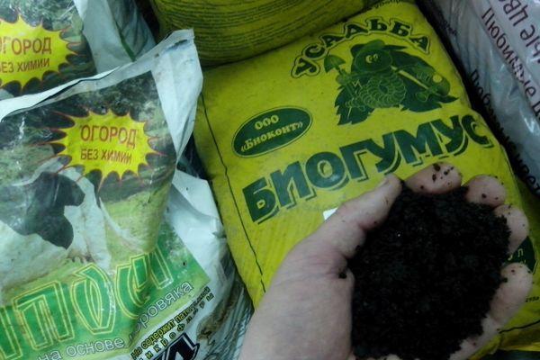 Биогумус с почвой