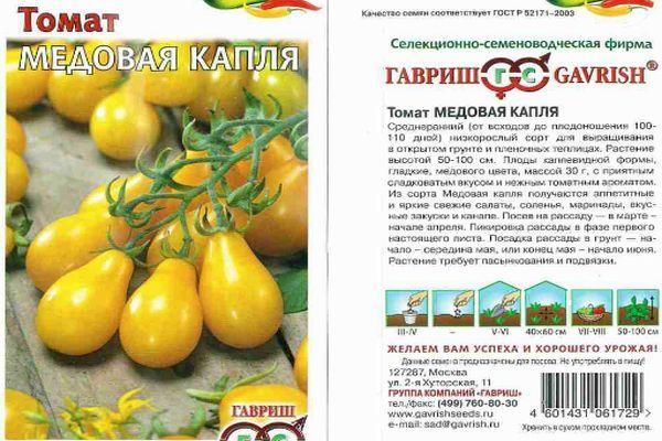 Характеристика помидора