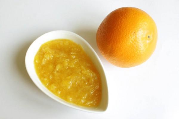 апельсиновый джем в мисочке
