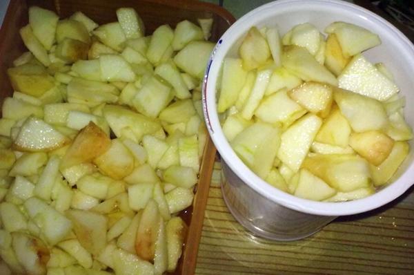 подготовка к заморозке яблок