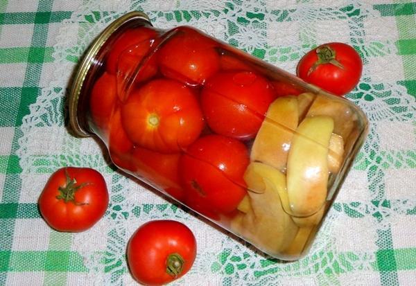 помидоры с яблочным уксусом и яблоками