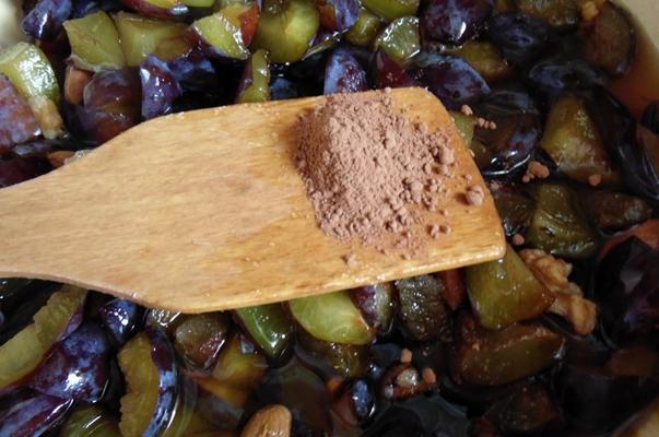 добавление какао в сливы