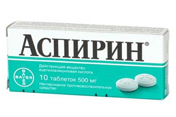 упаковка таблеток аспирина