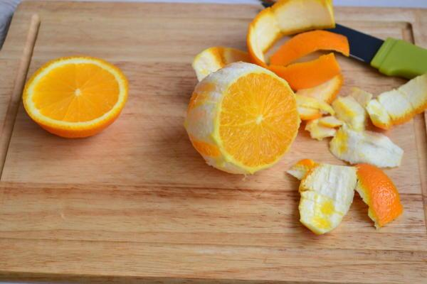 очистка апельсина