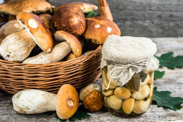 засоленные грибы в банке