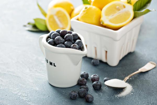 черника и лимон