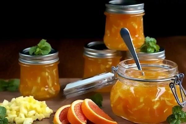 яблочный джем с апельсином