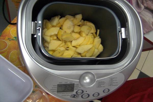 яблоки в хлебопечке