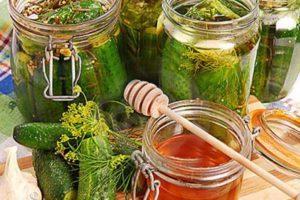Лучшие рецепты огурцов с медовым маринадом на зиму, хранение консервации