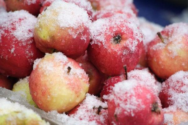 заморозка яблок