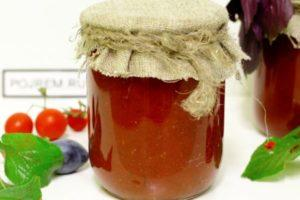 Рецепты приготовления кетчупа со сливами и томатами на зиму в домашних условиях