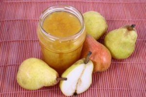 Простые рецепты джема и конфитюра из груш на зиму, с желатином и желфиксом, Пятиминутка