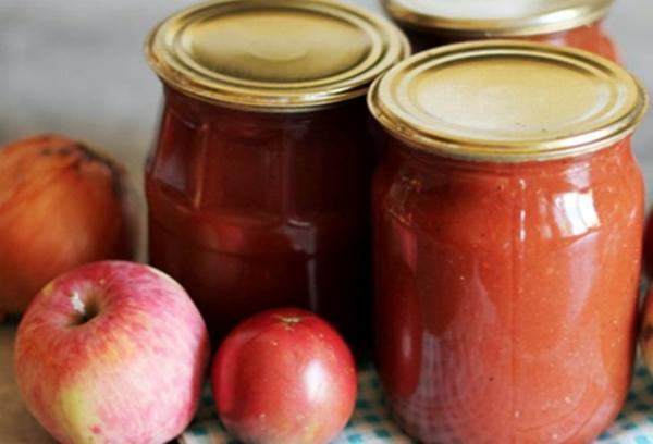 кетчуп с яблоками в банках