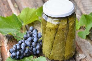 Рецепты заготовки виноградных листьев на зиму, маринование, посол и заморозка