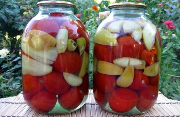 помидоры с яблочным уксусом и перцем