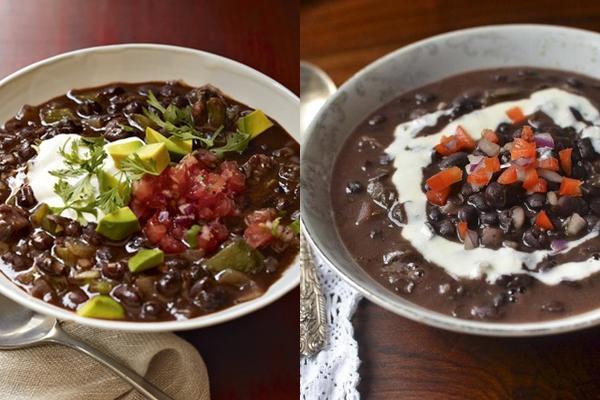 Суп из черной фасоли и гречки