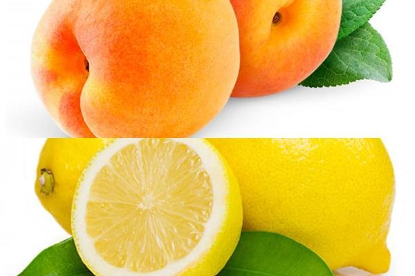персики и лимон