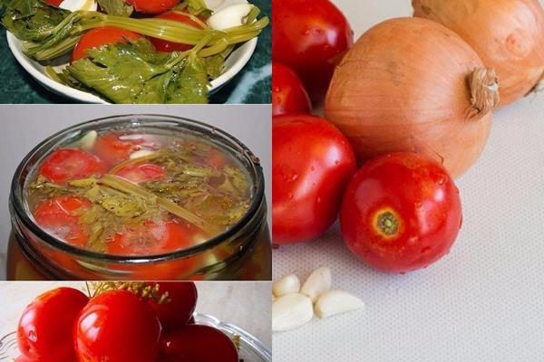 ингредиенты и процесс приготовления помидор по польски