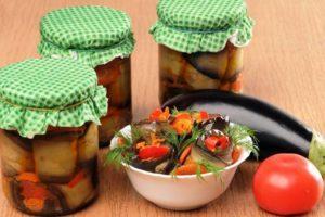 Как приготовить на зиму рулетики из баклажанов со сладким перцем, острые и вегетарианские