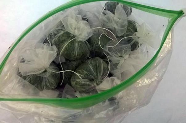 замороженная петрушка в пакете