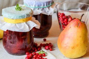 Рецепты желируемого варенья из брусники с грушами на зиму, как хранить
