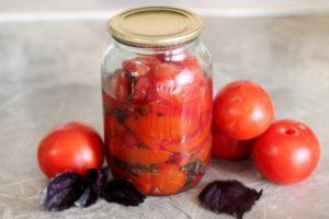 Рецепты маринованных помидоров с базиликом на зиму, подготовка продуктов и условия хранения
