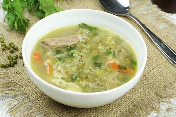 суп с фасоли маш
