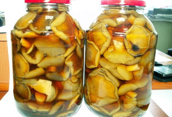 маринованные моховики в 3-х литровых банках