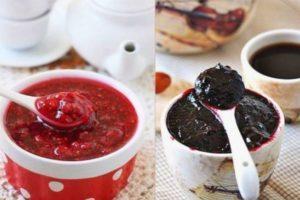 Рецепты варенья Пятиминутка из малины, из красной и черной смородины на зиму