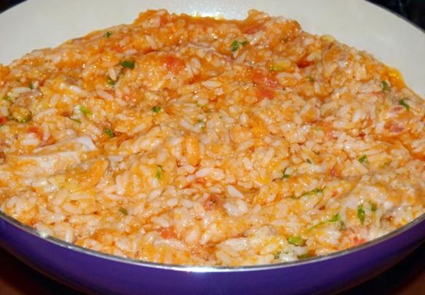 Кабачковая икра с рисом