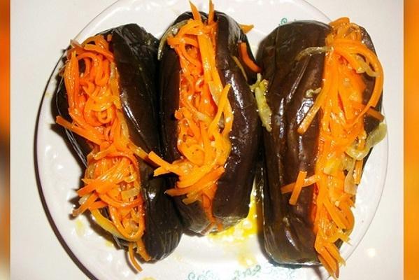 баклажаны квашеные с морковью по корейски