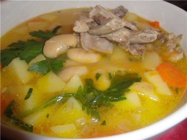 суп с фасоли