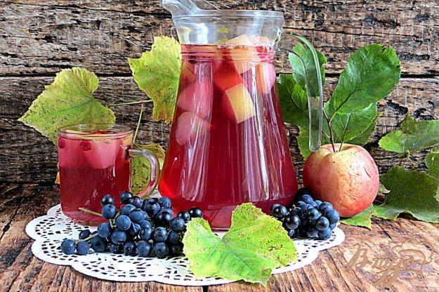 компот из винограда и яблоки