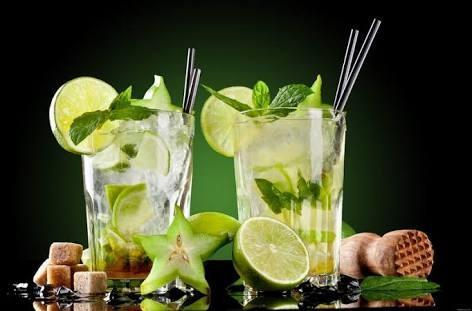 мохито и лимон