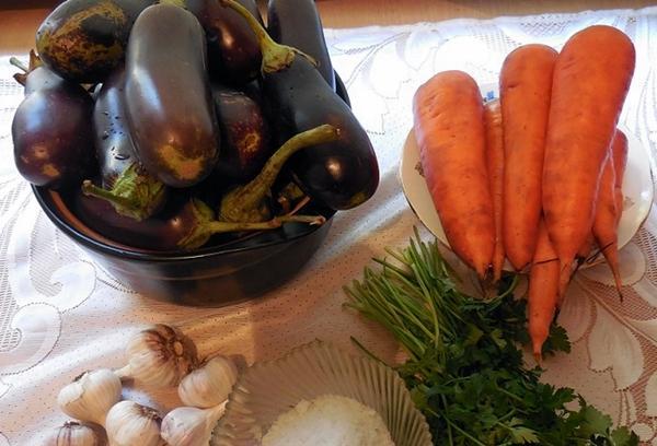ингредиенты для засола баклажан