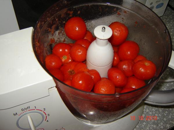 томаты в блендере