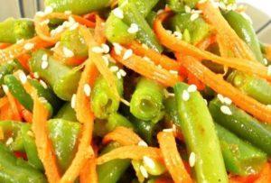 Простые рецепты маринования спаржевой фасоль по-корейски на зиму
