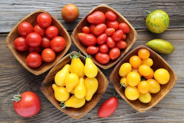 томаты в мисках