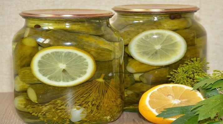 огурцы с лимоном