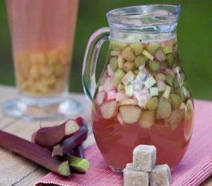 Простые рецепты приготовления компота из ревеня со стерилизацией и без на зиму