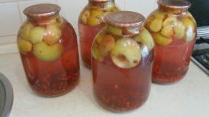 Рецепты компота из яблок и красной и черной смородины на зиму, как сварить в домашних условиях