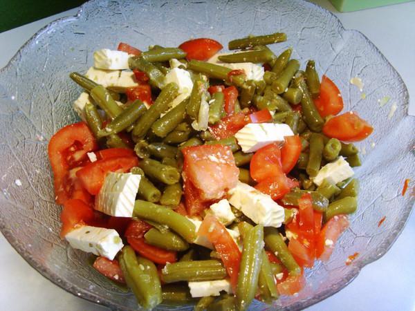 салат с маринованный фасоли