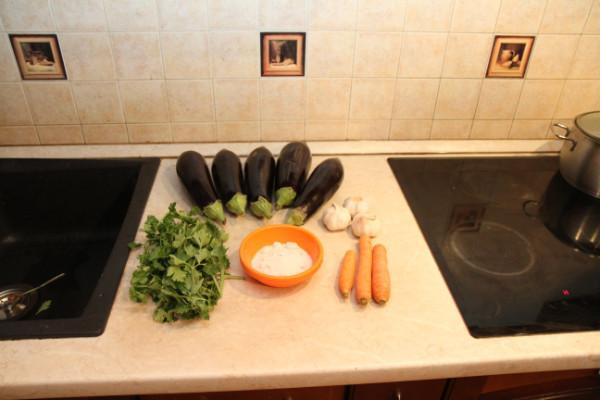 синенькие и морковь