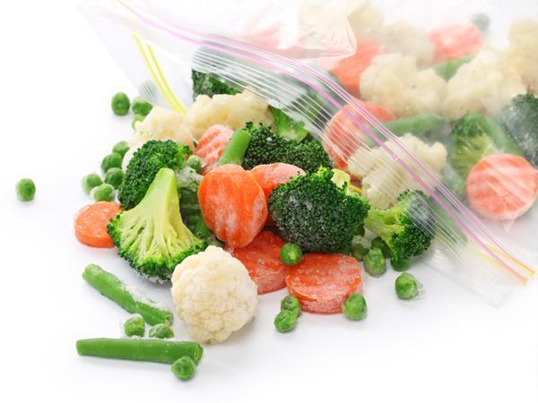 замороженные овощи в пакете